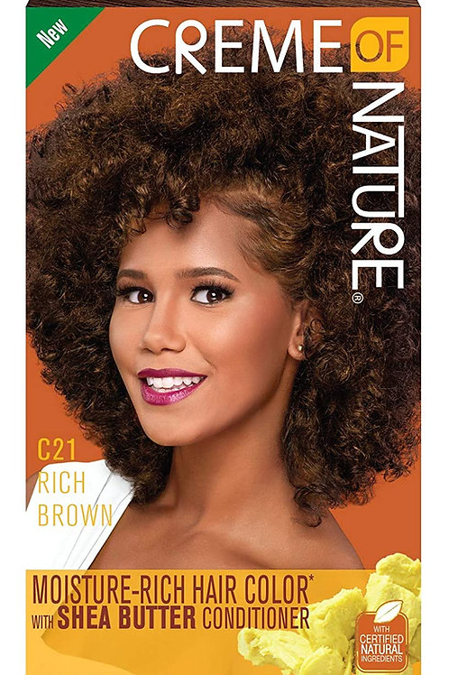 CREME OF NATURE CNI LIQUID HAIR COLOR #21 RICH BROWN
