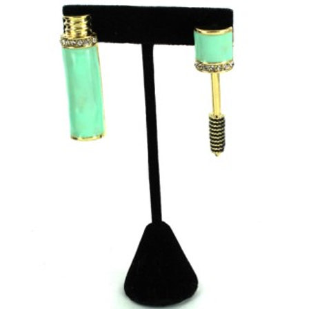 STONE EPOXY MASCARA EARRINGS