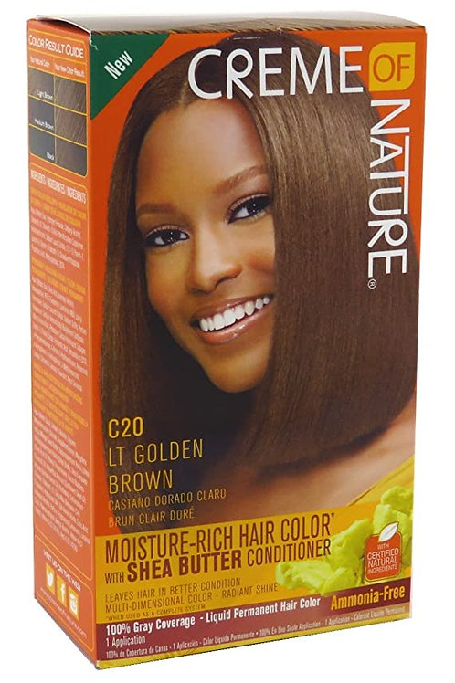 CREME OF NATURE LIQUID HAIR COLOR #20 LIGHT GOLDEN BROWN
