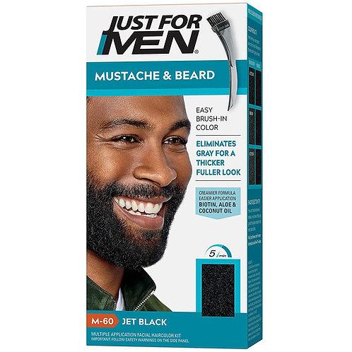 JUST FOR MEN BRUSH-IN MUSTACHE & BEARD DARKEST BEARD JET BLACK