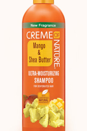 CREME OF NATURE CNI MANGO AND SHEA BUTTER SHAMPOO 12 OZ