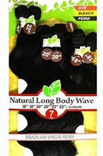 Naked Natural Long Body Wave + Closure