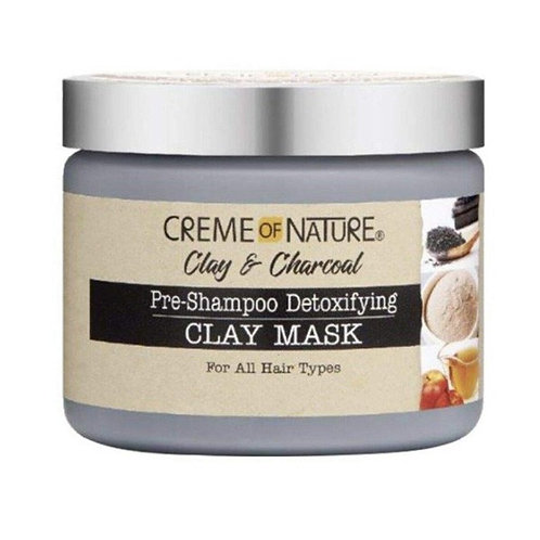 CREME OF NATURE CLAY & CHARCOAL CLAY MASK 11.5 OZ