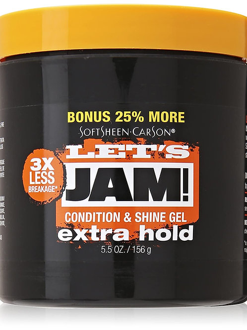 LET'S JAM  SHINING GEL 5.5 OZ EXTRA HOLD