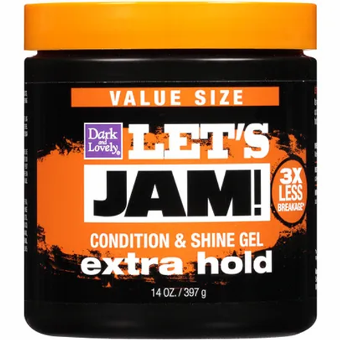 LET'S JAM  SHINING GEL 14 OZ EXTRA HOLD
