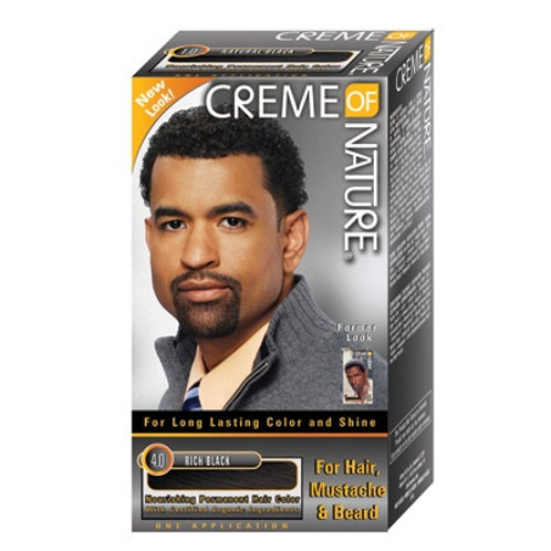 CREME OF NATURE GEL MENS HAIR COLOR CREME #4.0 RICH BLACK