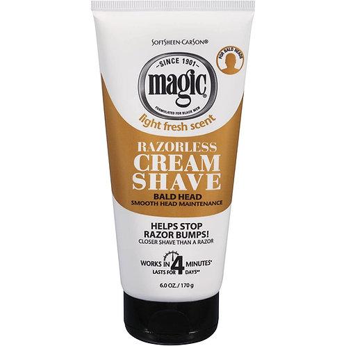 MAGIC CREAM SHAVE 6 OZ TUBE SMOOTH BALD HEAD