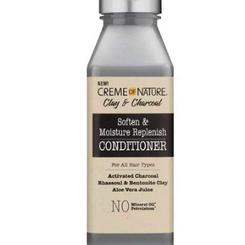 CREME OF NATURE CLAY & CHARCOAL 12 OZ MOISTURIZING CONDITIONER