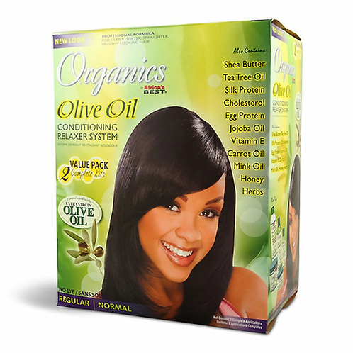 AFRICA'S BEST OLIVE OIL RELAXER KIT 2 AP REGULAR