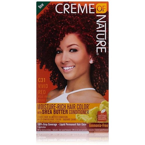CREME OF NATURE LIQUID HAIR COLOR #31 VIVID RED