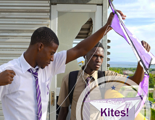 KC Students with kite