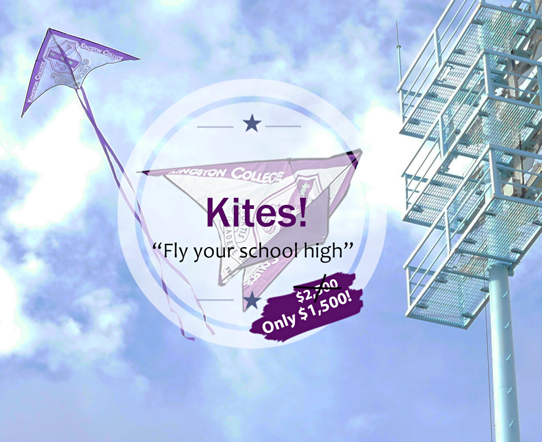 KC Kite Flying over