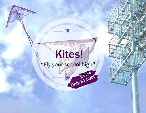 KC Kite Flying over