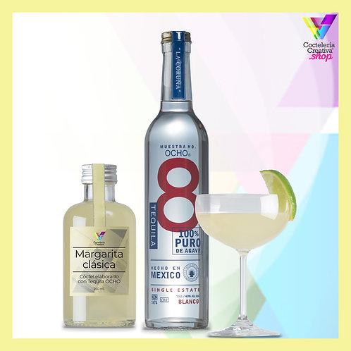 Pack Ocho Tequila con cóctel Margarita y copa gratis