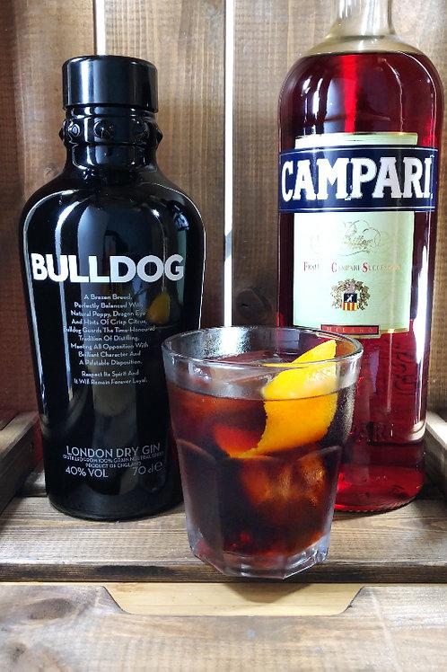 Prepara un Negroni con Bulldog Gin / El pack incluye + Cinzano 1757 + Campari