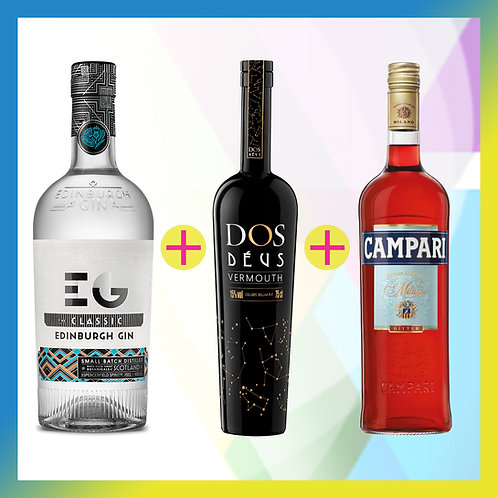 Prepara un Negroni Edinburgh Gin / El pack incluye Edinburgh+ Dos Déus + Campari