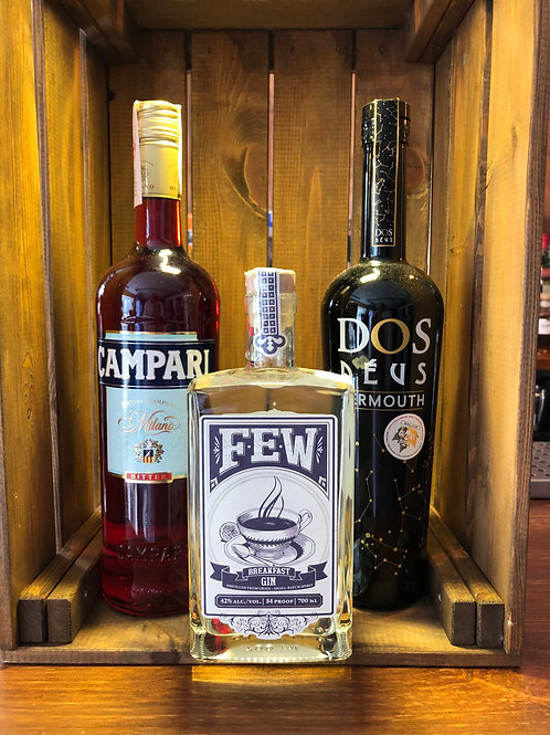Prepara un Negroni FEW / El pack incluye FEW Breakfast Gin + Dos Déus + Campari