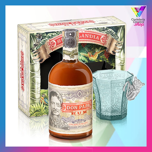 Don Papa Pack: botella + vaso de diseño