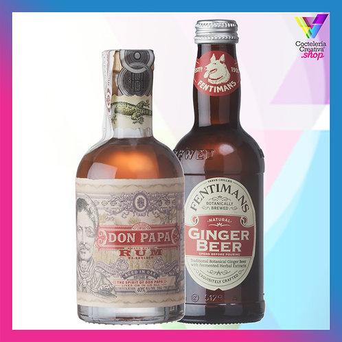 Don Papa 7 mini + 1 botellín Ginger Beer Fentimans