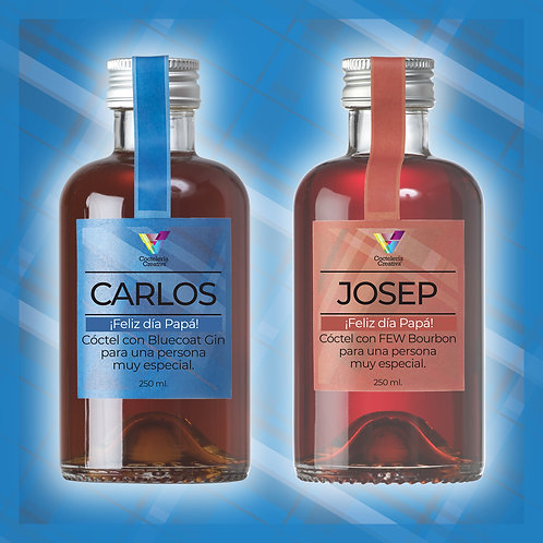 Cócteles personalizados / etiqueta especial Pack 2 botellines