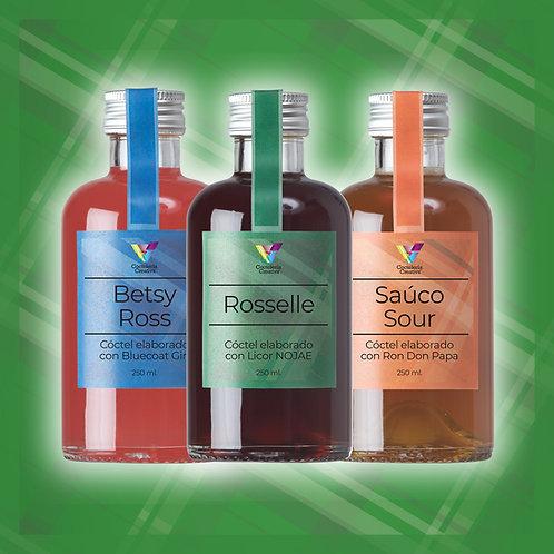 Cócteles embotellados / Pack 3 botellines