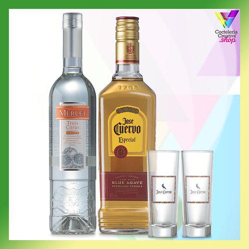 Pack Margarita Jose Cuervo Especial y triple sec Merlet - dos shot gratis