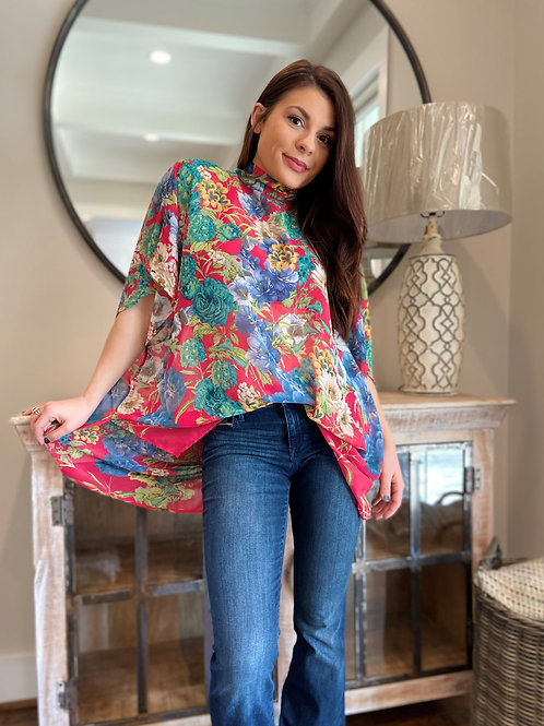 Fly Me To The Moon Floral Top