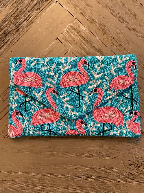 Let's Flamingle Clutch