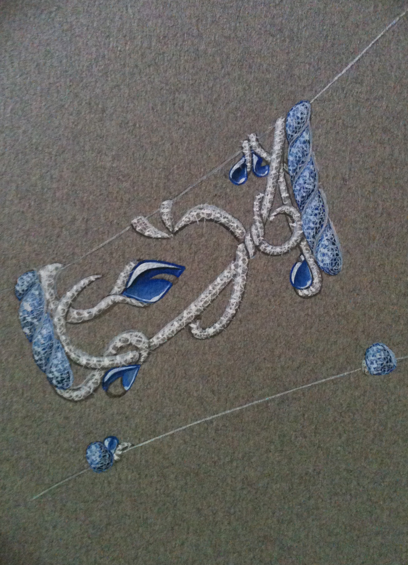 étude de bracelet-saphir