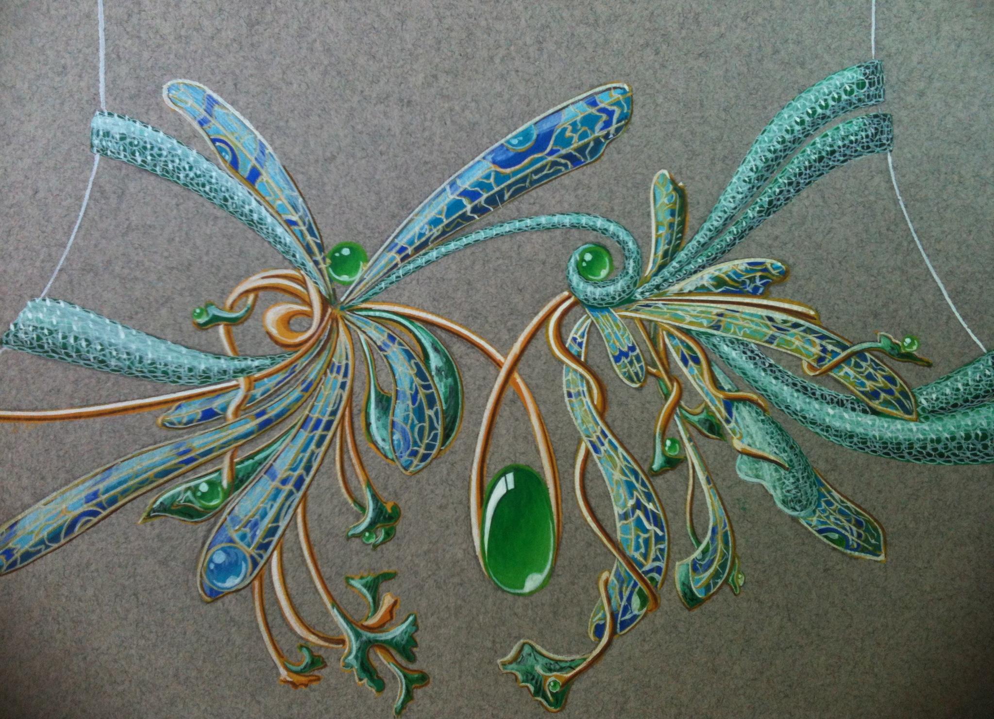 étude collier-libellule