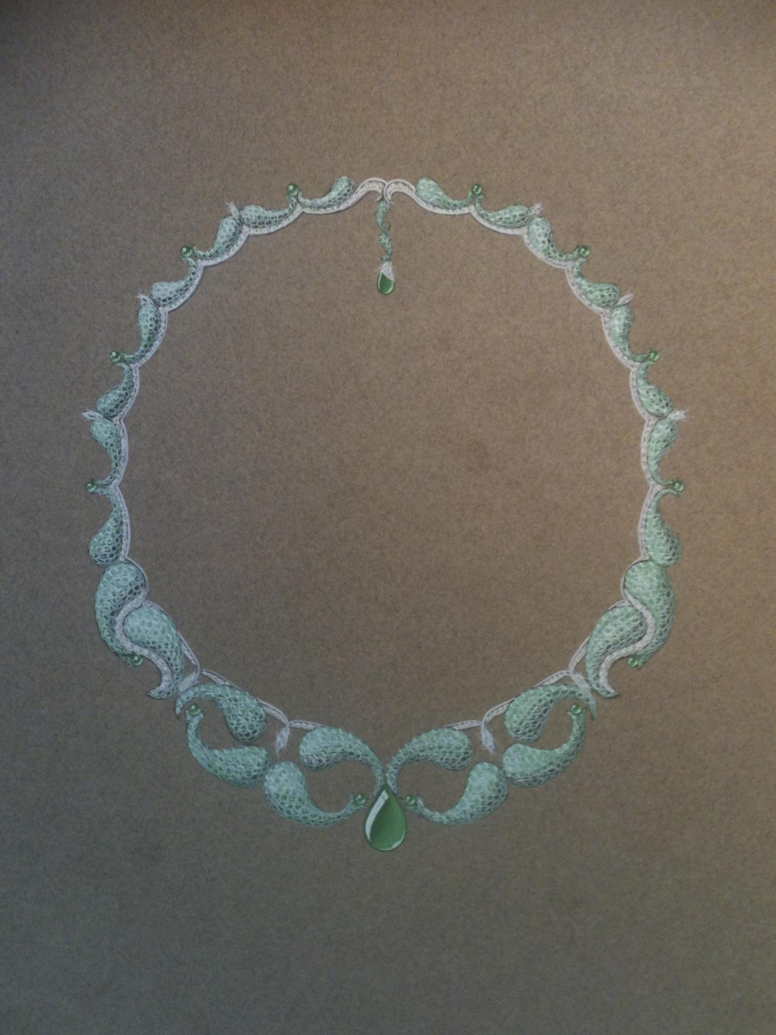 étude de collier-émeraude