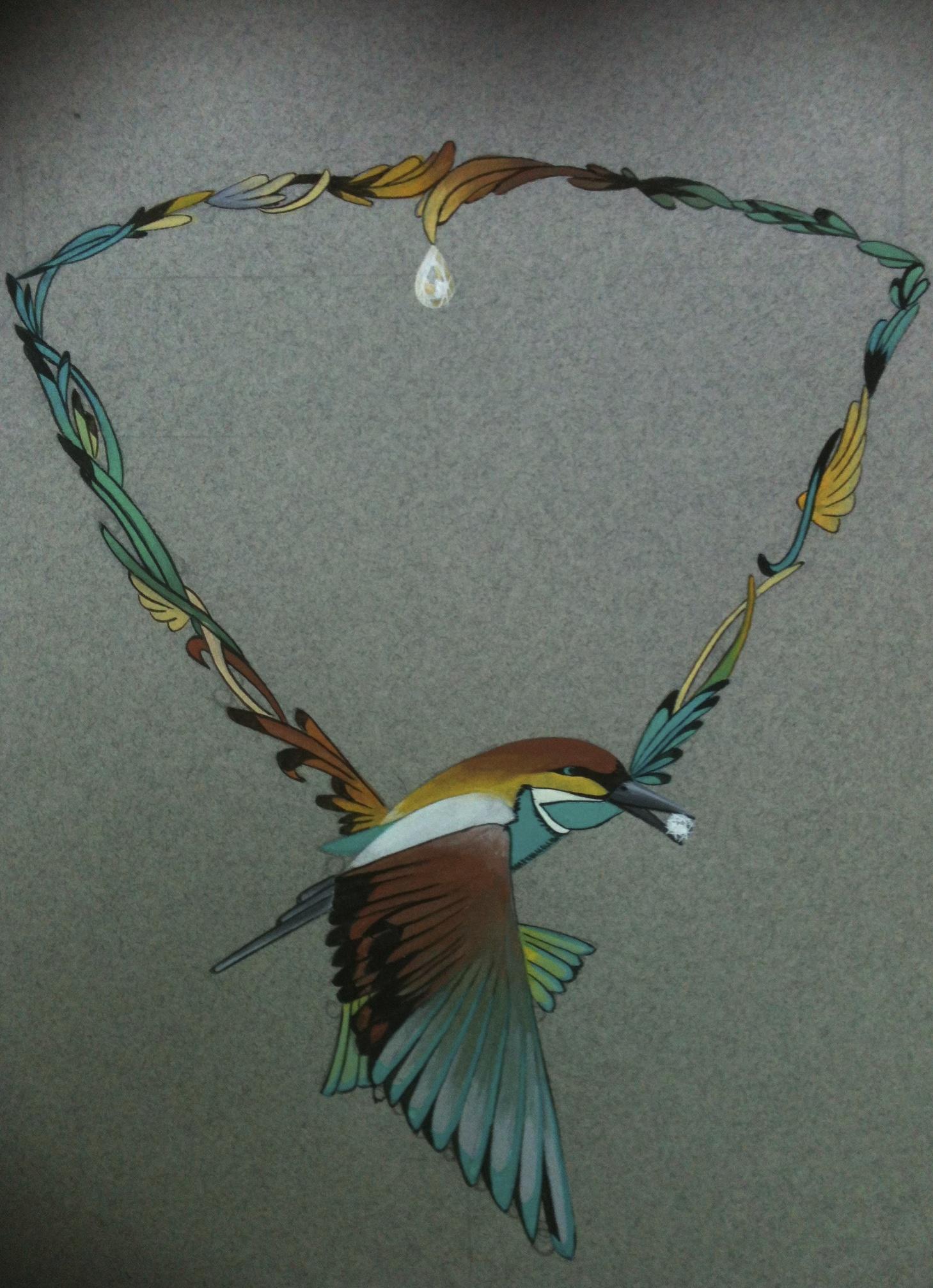 étude de collier-oiseau