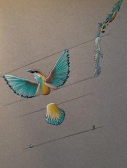 étude de bracelet-oiseau