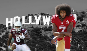 Kylin Hill and Colin Kaepernick