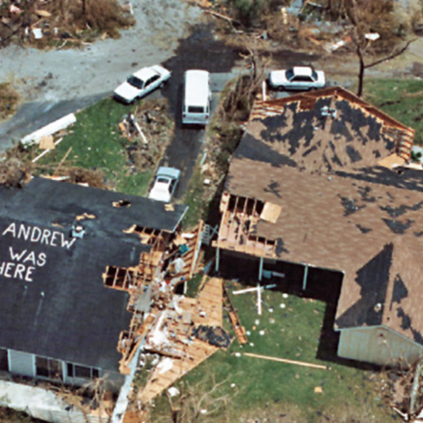 Destruction viewed from above