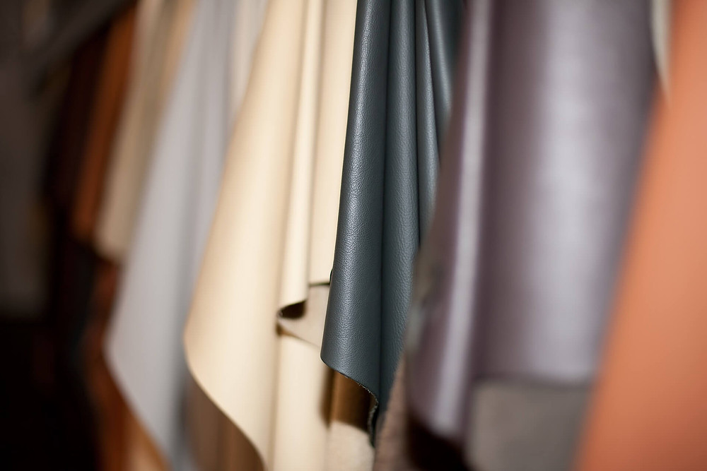 hanging-sheets-of-tanned-leather