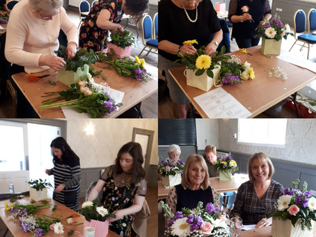 Flower arranging at Inglewood house