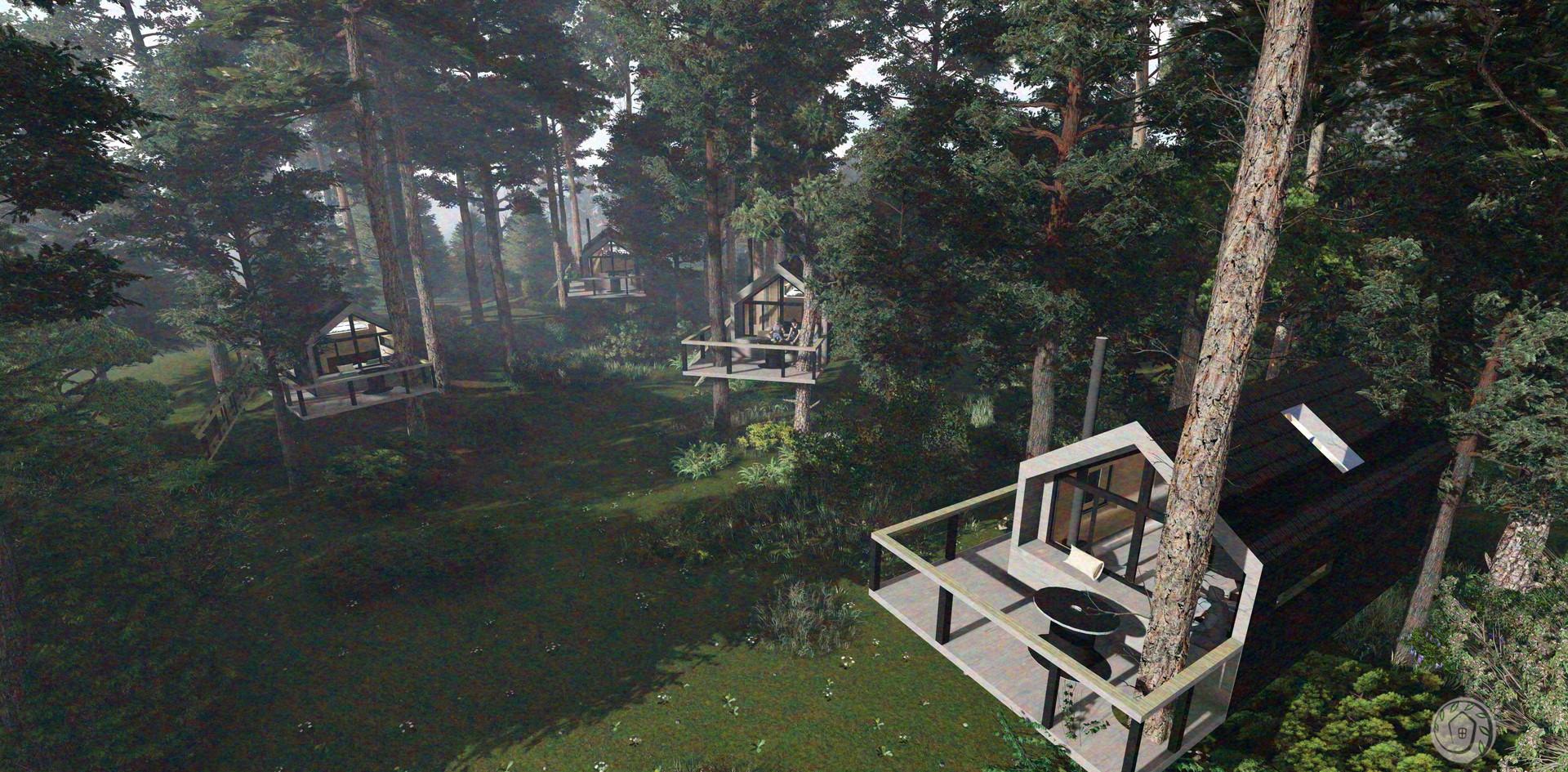 Miško glūdumų nameliai