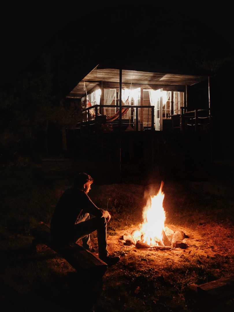 Varėna Tree house, East namelis - naktis