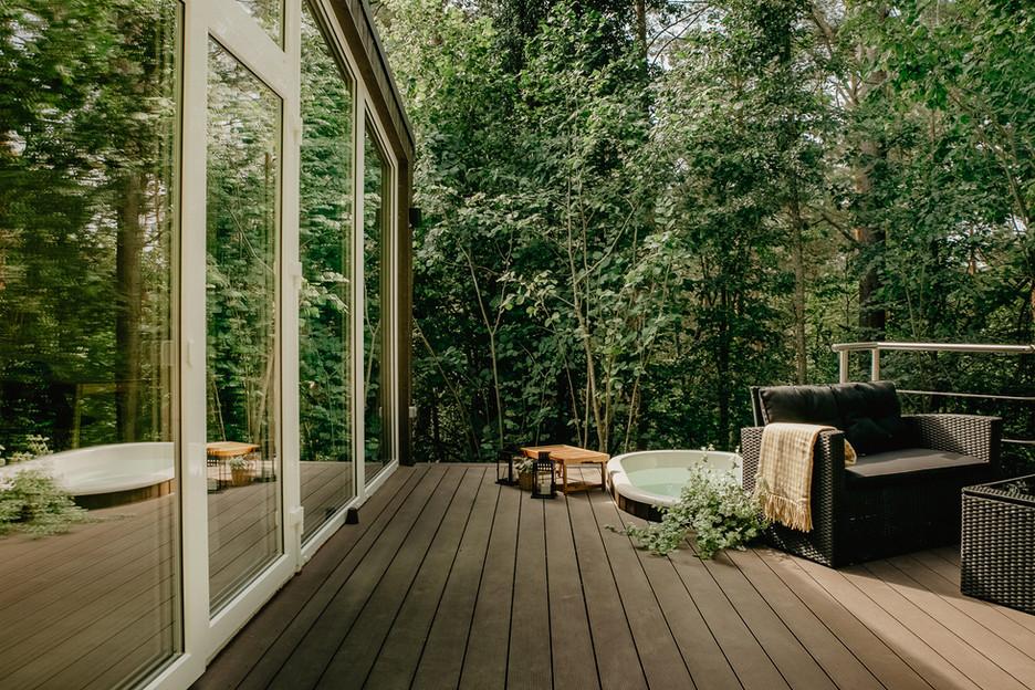 Atokampio vakarinis namelis - terasa