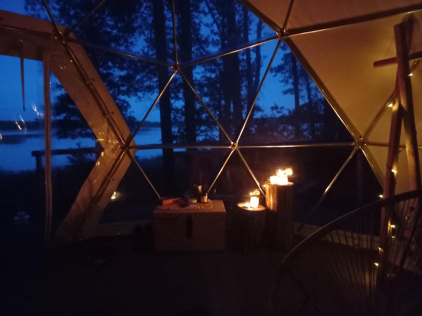 Asalnų kreminis kupolas - vakaras
