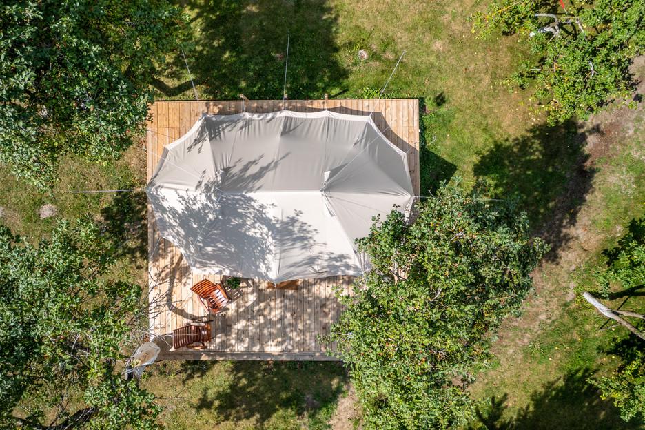 Casa de campo vaizdas iš aukštai