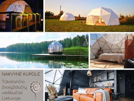 Nakvynė kupole - tūkstančio žvaigždučių viešbučiai Lietuvoje