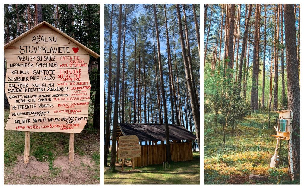 Asalnų stovyklavietė - taisyklės