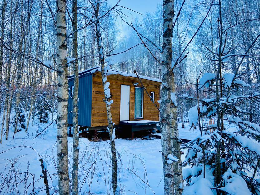 InWoods namelis žiemą