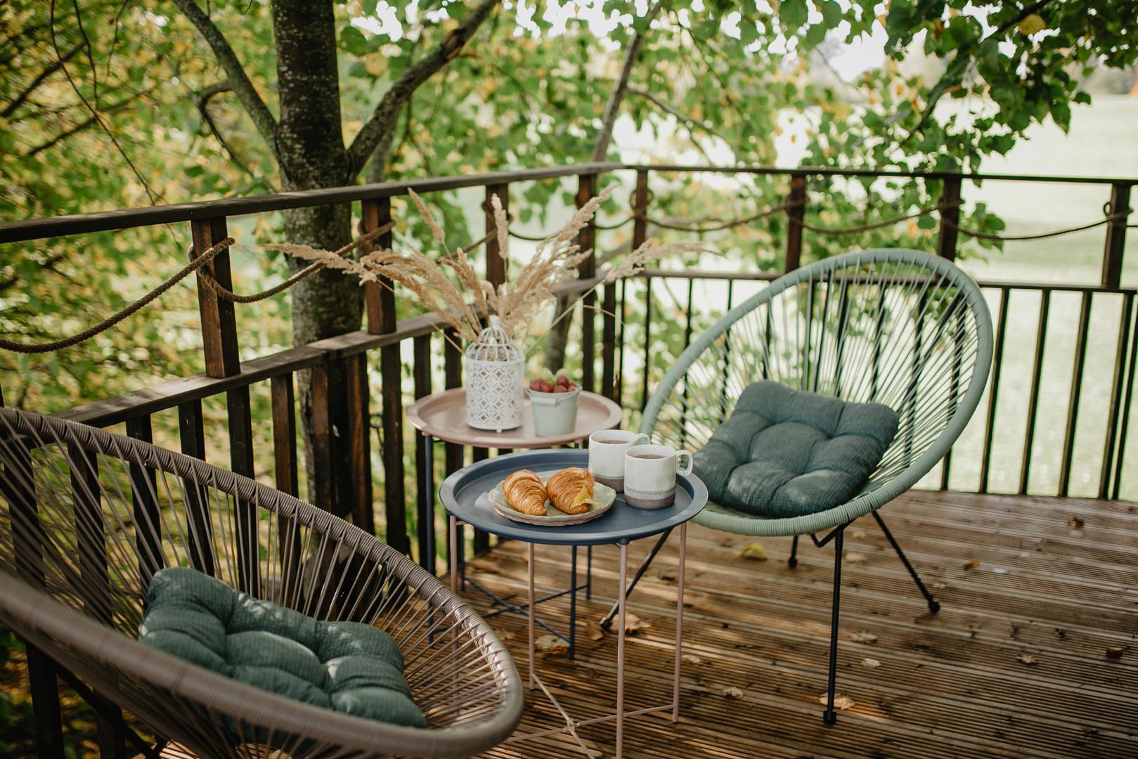Paukščių namelis medyje  - terasa