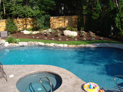 Pool Planting Stone Edging