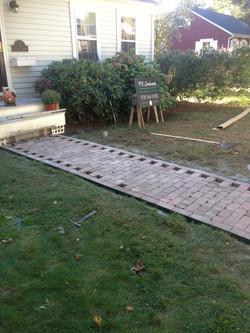 Recycled Brick Walkway