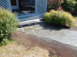 Flagstone w/ granite landing