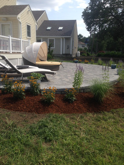 Raised Radius Paver Patio